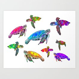 SEA THE TURTLES! Art Print