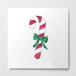 Christmas Season —Candy Canes Metal Print