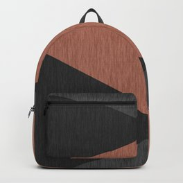 Black , brown ,abstract , geometric Backpack