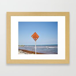 Stay Present Framed Art Print