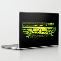 prometheus Laptop & iPad Skins featuring Prometheus - David 8 Crew Tag by Chubbybuddhist