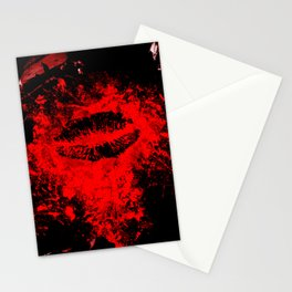 Gothic Bloody Kiss Stationery Cards