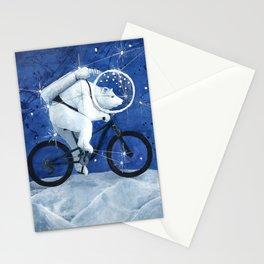 Polar bear on the Moon Stationery Cards
