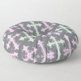 Pastel Goth | Grey Floor Pillow