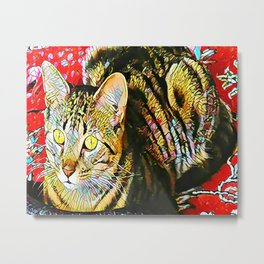 The TIGER from our FUNK YOUR FELINE line Metal Print