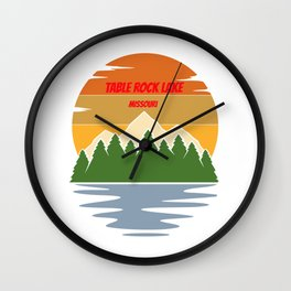 table rock lake  for people who like lakes, vacations and national parks  Wall Clock