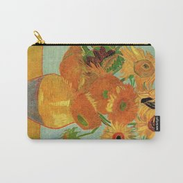 Famous art, Still Life - Vase with twelve Sunflowers by Vincent van Gogh. Carry-All Pouch