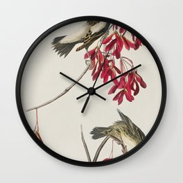 Cuviers Kinglet from Birds of America (1827) by John James Audubon etched by William Home Lizars Wall Clock
