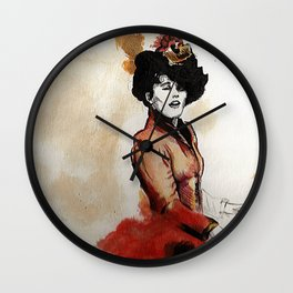 Irene Adler in Watercolor Wall Clock