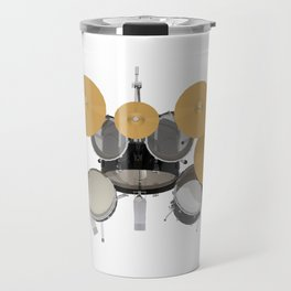 Black Drum Kit Travel Mug