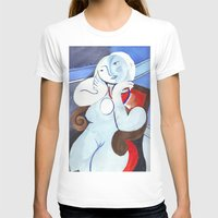 pablo picasso T-shirts featuring Nude Woman in a Red Armchair original by Pablo Picasso by Mr Shins