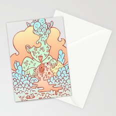 nom nom Stationery Cards