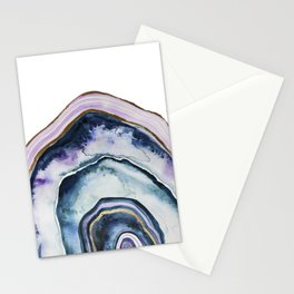 Purple Agate Watercolor Stationery Cards