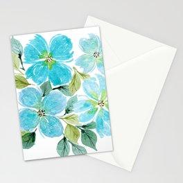 Meraki Teal Floral Cluster Stationery Cards