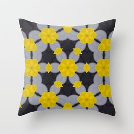 Chains in Yellow Throw Pillow