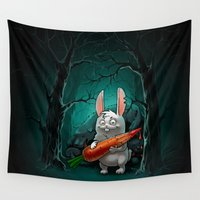 rabbit Wall Tapestries featuring rabbit by Antracit