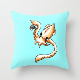 Inky Ornaments Throw Pillow