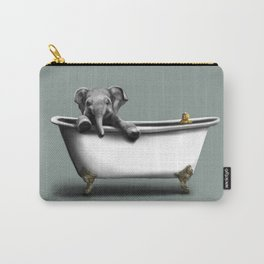 Elephant in Bath Carry-All Pouch