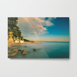 Rainbow in the gulf of Trieste Metal Print