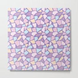 Pastel mosaic pattern with stone texture Metal Print