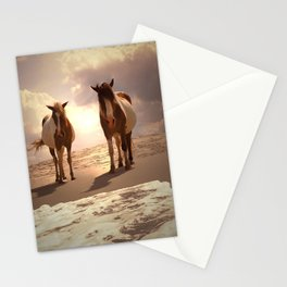 Beached Ponies - Ponies and Clouds Stationery Cards