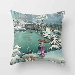 Ukiyo-e: Yuri on Ice Throw Pillow