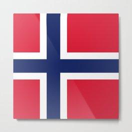 Norway flag emblem Metal Print