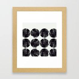 minimal brush stroke geometrical pattern Framed Art Print