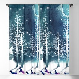 Winter Night 2 Blackout Curtain