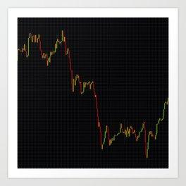 Forex stock market chart Art Print