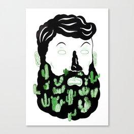 Cactus Beard Dude Canvas Print