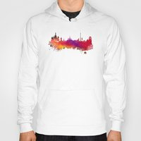 moscow Hoodies featuring Moscow skyline by jbjart