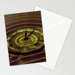Hands of Time Yellow Rippling Water Art Motif Stationery Cards