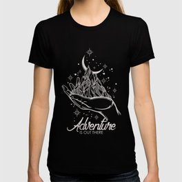 Adventure Is Out There Forest Lake Reflection - Nature Photography T-shirt