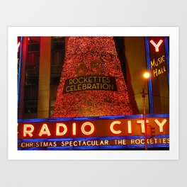 Radio City Music Hall, NYC Art Print