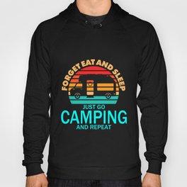 Camping Eat Sleep Camper Camp Van Outdoor Mountain Hoody