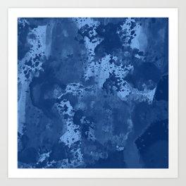 Indigo Blue Art Print