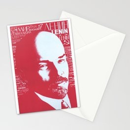 Russia, URSS Vintage Poster, Lenin Stationery Cards