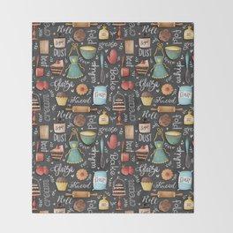 Bake Love Pattern Throw Blanket