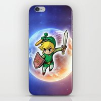 triforce iPhone & iPod Skins featuring Triforce Hero by Febrian89