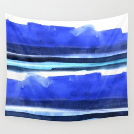 Wave Stripes Abstract Seascape Wall Tapestry