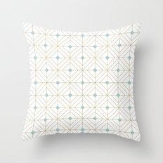 Mint Diamonds Throw Pillow