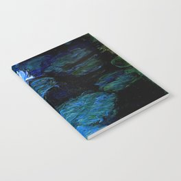 monet water lilies 1899 blue Teal Notebook