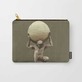 Man with Big Ball Illustration brown Carry-All Pouch
