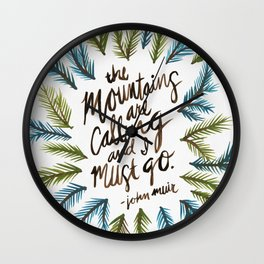 Mountains Calling Wall Clock