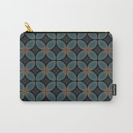 Metallic Deco Blue Carry-All Pouch