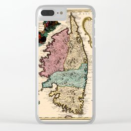 Map Of Corsica 1720 Clear iPhone Case