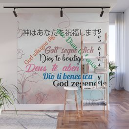 God Bless You Wall Mural