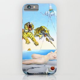 Salvador Dalí, Dream Caused by the Flight of a Bee Around a Pomegranate a Second Before Awakening 1944 iPhone Case