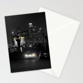 Los Angeles by Night Stationery Cards
